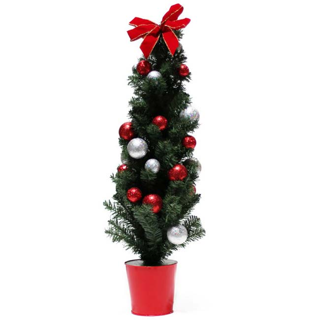 Potted Artificial Tree with Ornaments (48-inch) at Sears.com