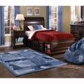 Beaufort Denim Blue Sleeves Rug (5' x 7'6)