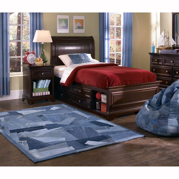 Beaufort Denim Blue Sleeves Rug (5' x 7'6)
