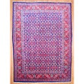 Persian Hand-knotted Mahal Navy/ Red Wool Rug (9'6 x 13')
