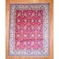 Persian Hand-knotted Tabriz Red/ Ivory Wool Rug (9'10 x 13')