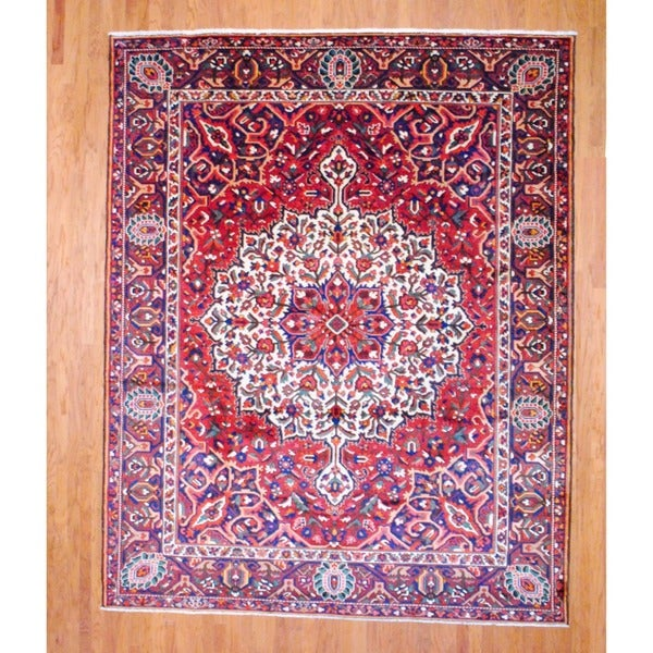Persian Hand-knotted Bakhtiari Red/ Brown Wool Rug (9'3 x 11'7)