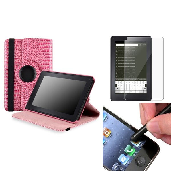 BasAcc Case/ Screen Protector/ Black Stylus for Amazon Kindle Fire