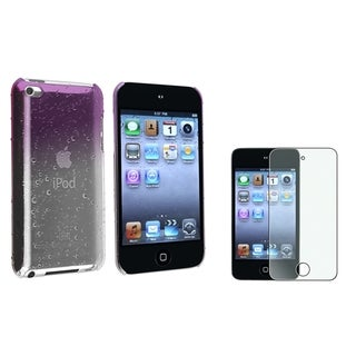 BasAcc Clear Purple Water Drop Case/Screen Protector for Apple iPod Touch Generation 4