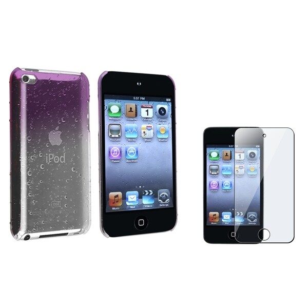 BasAcc Snap-On Case/Anti-Glare Screen Protector for Apple iPod Touch Generation 4