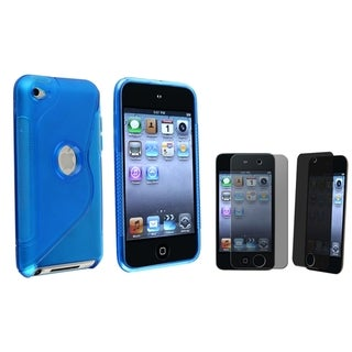 BasAcc Blue Case/ Privacy Protector for Apple� iPod Touch Generation 4