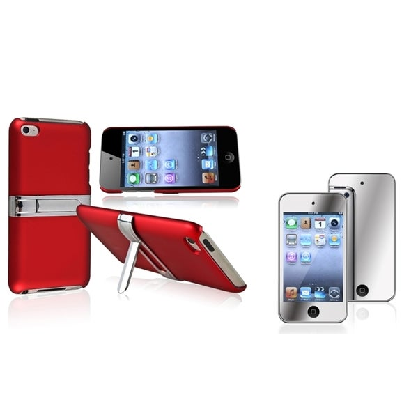 BasAcc Red Case/ Screen Protector for Apple® iPod Touch Generation 4