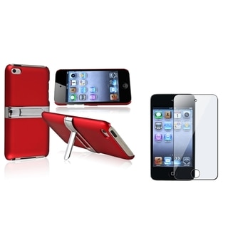 BasAcc Red Case/Anti-Scratch Screen Protector for Apple iPod Touch Generation 4