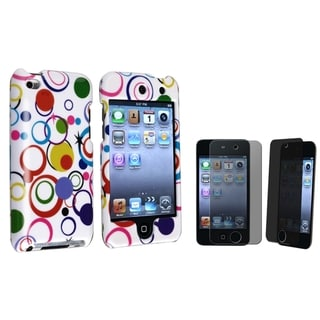 BasAcc White/Colorful Circle Case/Privacy Protector for Apple iPod Touch Generation 4