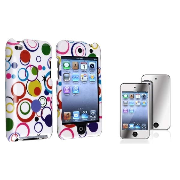 BasAcc White Plastic Case/Screen Protector for Apple iPod Touch Generation 4
