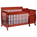 DaVinci Kalani Cherry Finish Crib and Changer with Toddler Rail