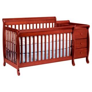 DaVinci Kalani Cherry Finish Crib and Changing Table with Toddler Rail