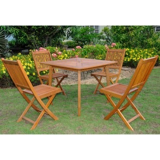 International Caravan Royal Tahiti Montalbo 5-piece Outdoor Dining Set