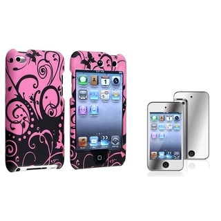 BasAcc Rubber Case/Screen Protector for Apple iPod Touch Generation 4