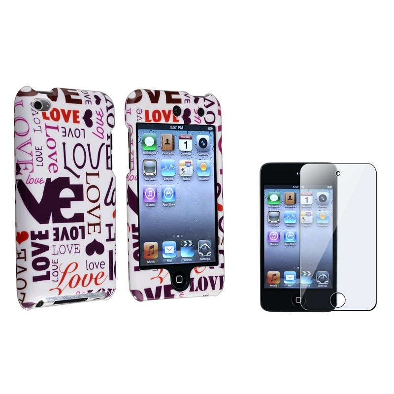 BasAcc Lover Case/Screen Protector Accessory Set for Apple iPod touch Generation 4