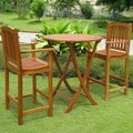 International Caravan Royal Tahiti Terrassa Patio Bar-Height Bistro Set