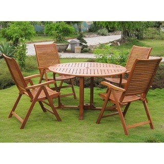 International Caravan Royal Tahiti Requena 5-Piece Patio Dining Set