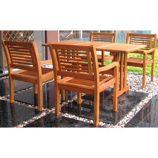 International Caravan Royal Tahiti Montoro 5-Piece Outdoor Dining Set