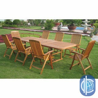 International Caravan Royal Tahiti Cardena 9-Piece Outdoor Dining Set