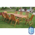 International Caravan Royal Tahiti Cardena 9-Piece Outdoor Dining Set