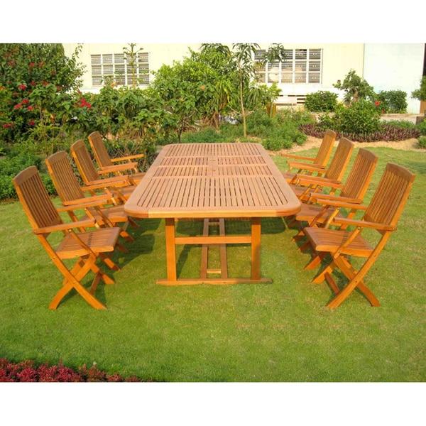 International Caravan Royal Tahiti Navarre 9-Piece Outdoor Dining Set