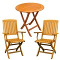 Royal Tahiti Pamplona 3-Piece Outdoor Folding Bistro Set