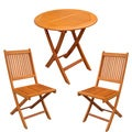 International Caravan Royal Tahiti Leganes 3-Piece Outdoor Folding Bistro Set