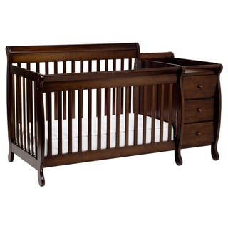 DaVinci Kalani Crib and Changing Table Combo with Toddler Rail in Espresso