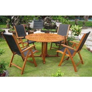International Caravan Royal Tahiti Santiago 5-Piece Outdoor Dining Set