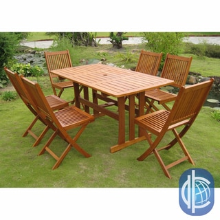 International Caravan Royal Tahiti Zamora 7-Piece Outdoor Dining Set