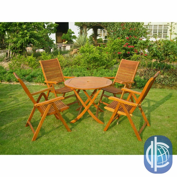 International caravan royal tahiti marin 5 piece outdoor dining set