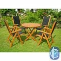 Royal Tahiti Caceres 5-Piece Folding Patio Dining Set