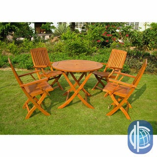 International Caravan Royal Tahiti Vigo 5-Piece Patio Dining Set