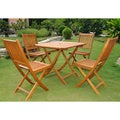International Caravan Royal Tahiti Alhambra 5-piece Folding Outdoor Dining Set