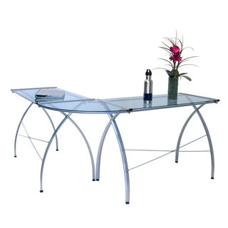 Calico Designs Jameson LS Silver/ Blue Glass Workcenter