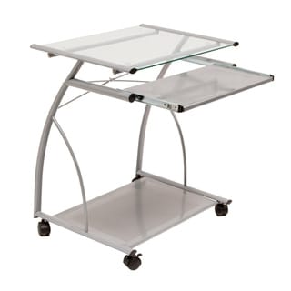 Studio Designs Silver/Clear Glass L Cart