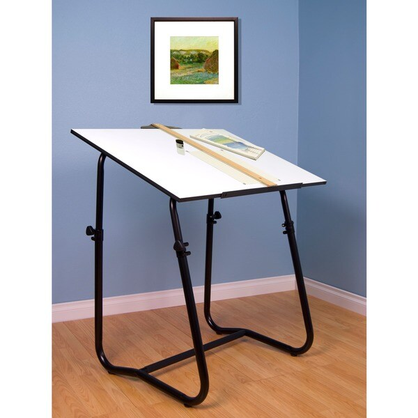 Studio design tech drafting table black overstock for Studio 52 table view