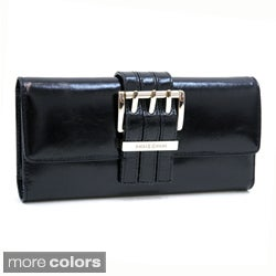 Anais Gvani Genuine Italian Leather Checkbook Wallet