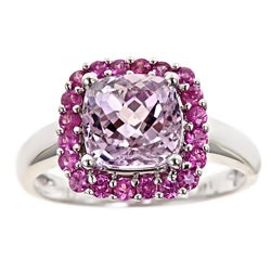 D'yach 14k Gold Kunzite and Pink Sapphire Ring