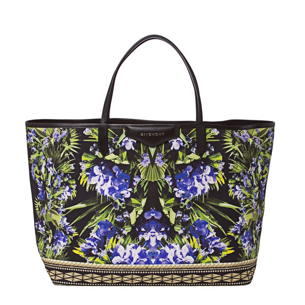 Givenchy Floral Print Canvas Tote Bag