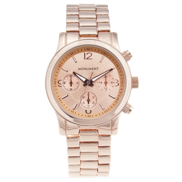 Monument Women's Rose Gold-tone Sport Watch