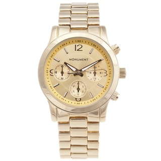 Monument Women's Gold-tone Sport Watch