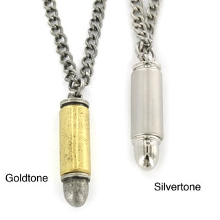 West Coast Jewelry Goldtone or Silvertone Bullet Design Necklace