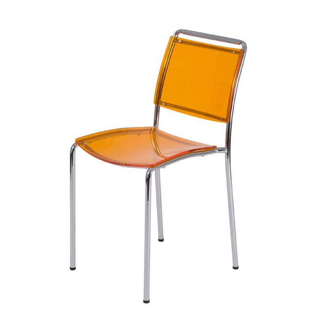 Stefie Orange Pro Stack Chairs (Set of 4)