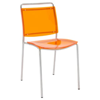 Stefie Orange Pro Stack Chairs (Set of 4)
