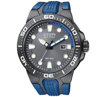Citizen Men's 'Scuba Fin' Eco-drive Blue Polyurethane Strap Watch