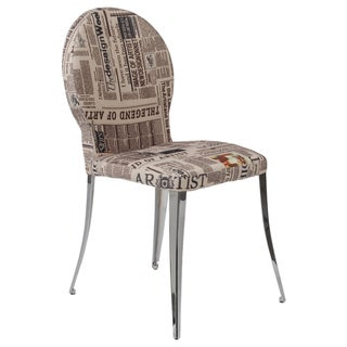 Farid News Fabric Dining Chairs (Set of 2)