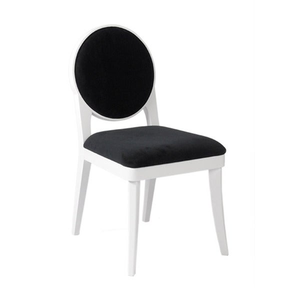 Hallie White and Black Chairs (Set of 2)
