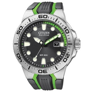 Citizen Men's Eco-drive 'Scuba Fin' Polyurethane Strap Watch