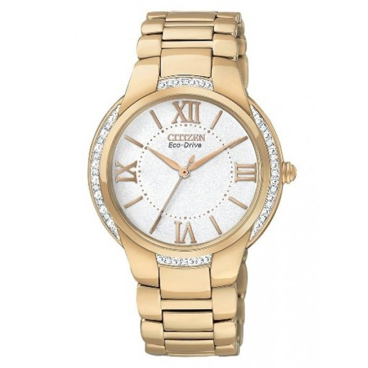 Citizen Women's Eco-drive 'Ciena' Light Rose Goldtone Watch
